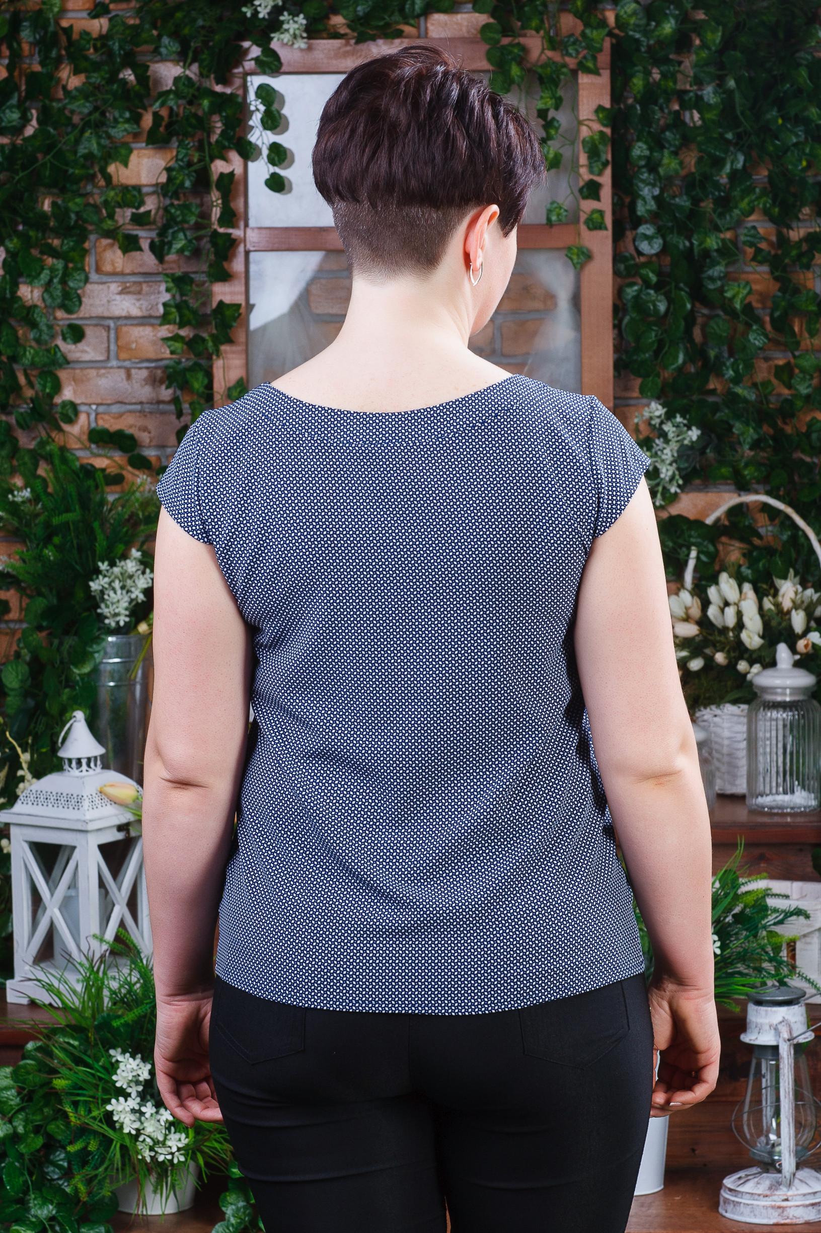 Стильная летняя женская блуза б-4480