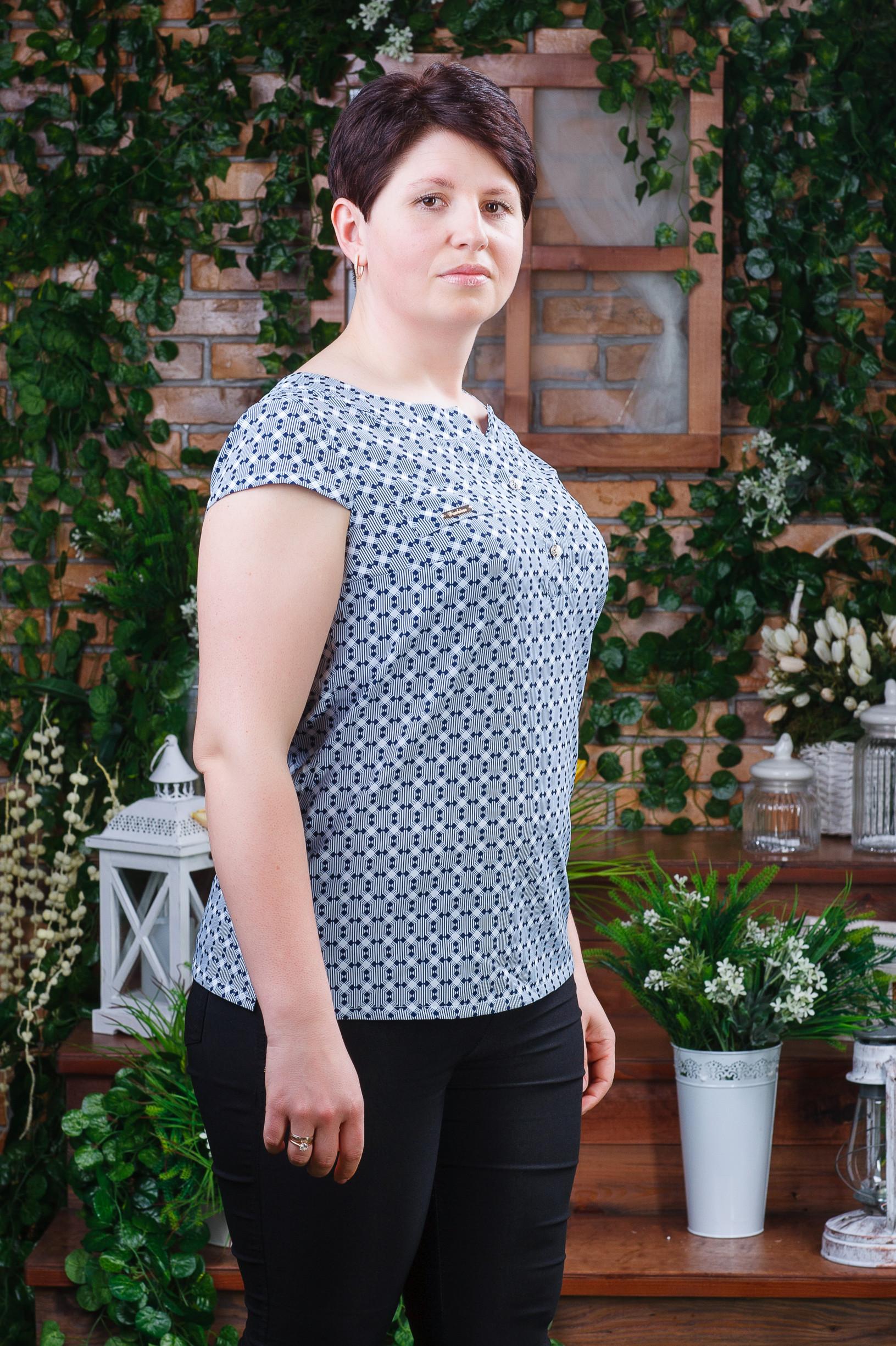 Стильная летняя женская блуза б-4481