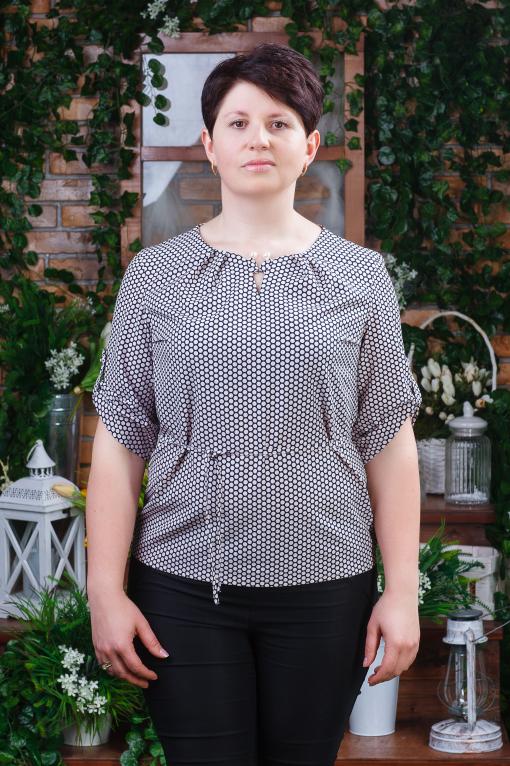 Женская летняя блуза большых размеров б-6040