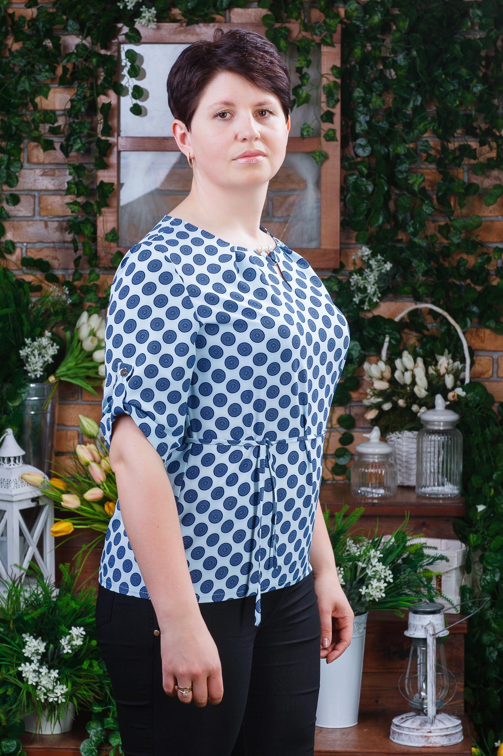 Женская летняя блуза большых размеров б-6041