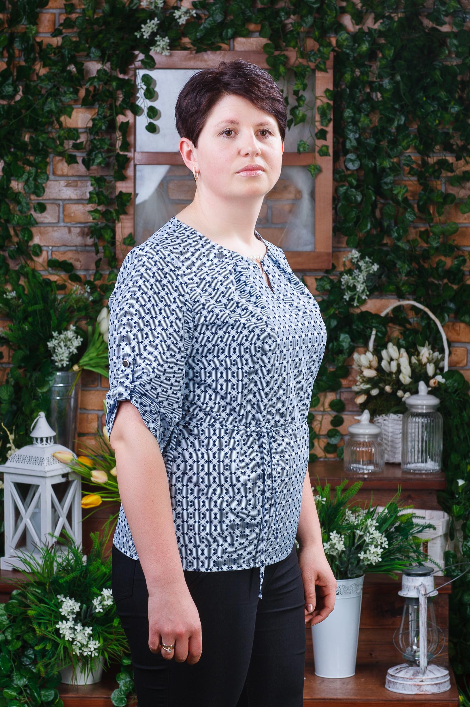 Женская летняя блуза большых размеров б-6042