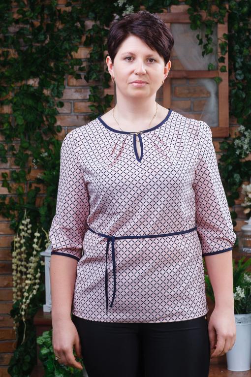 Женская блуза батал б-6060