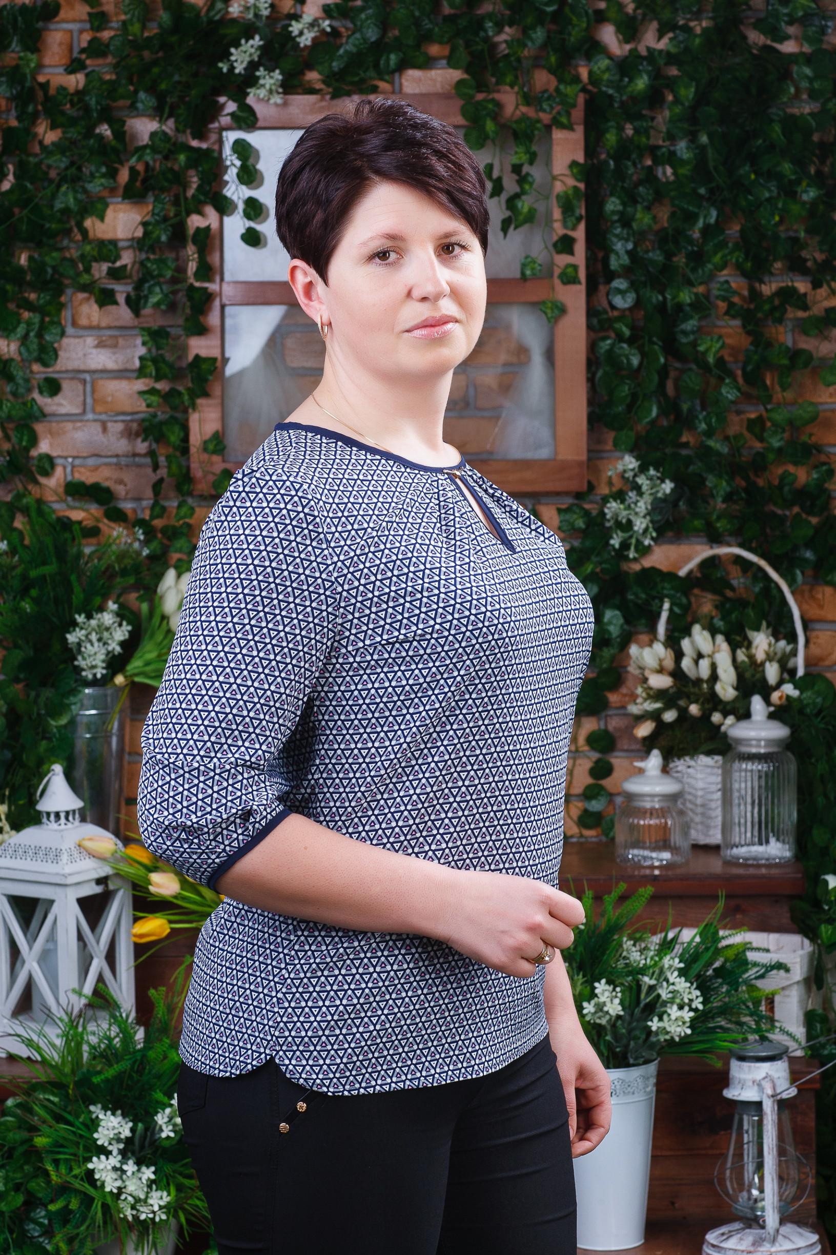 Женская блуза батал б-6061