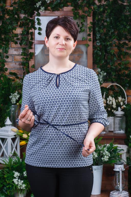Женская блуза батал б-6062