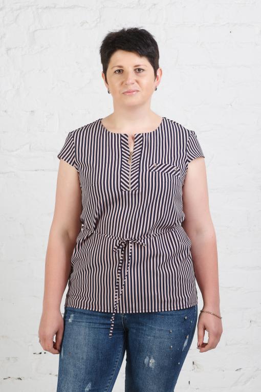 Женская блуза Б-776 в полоску