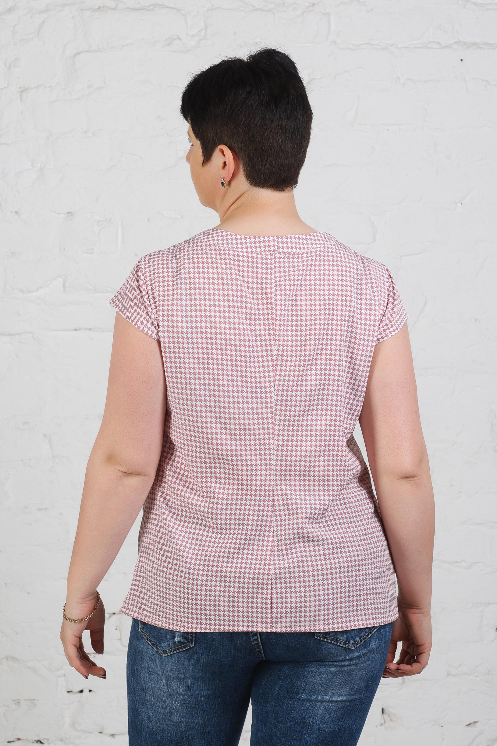 Летняя блуза на пуговицах б-612