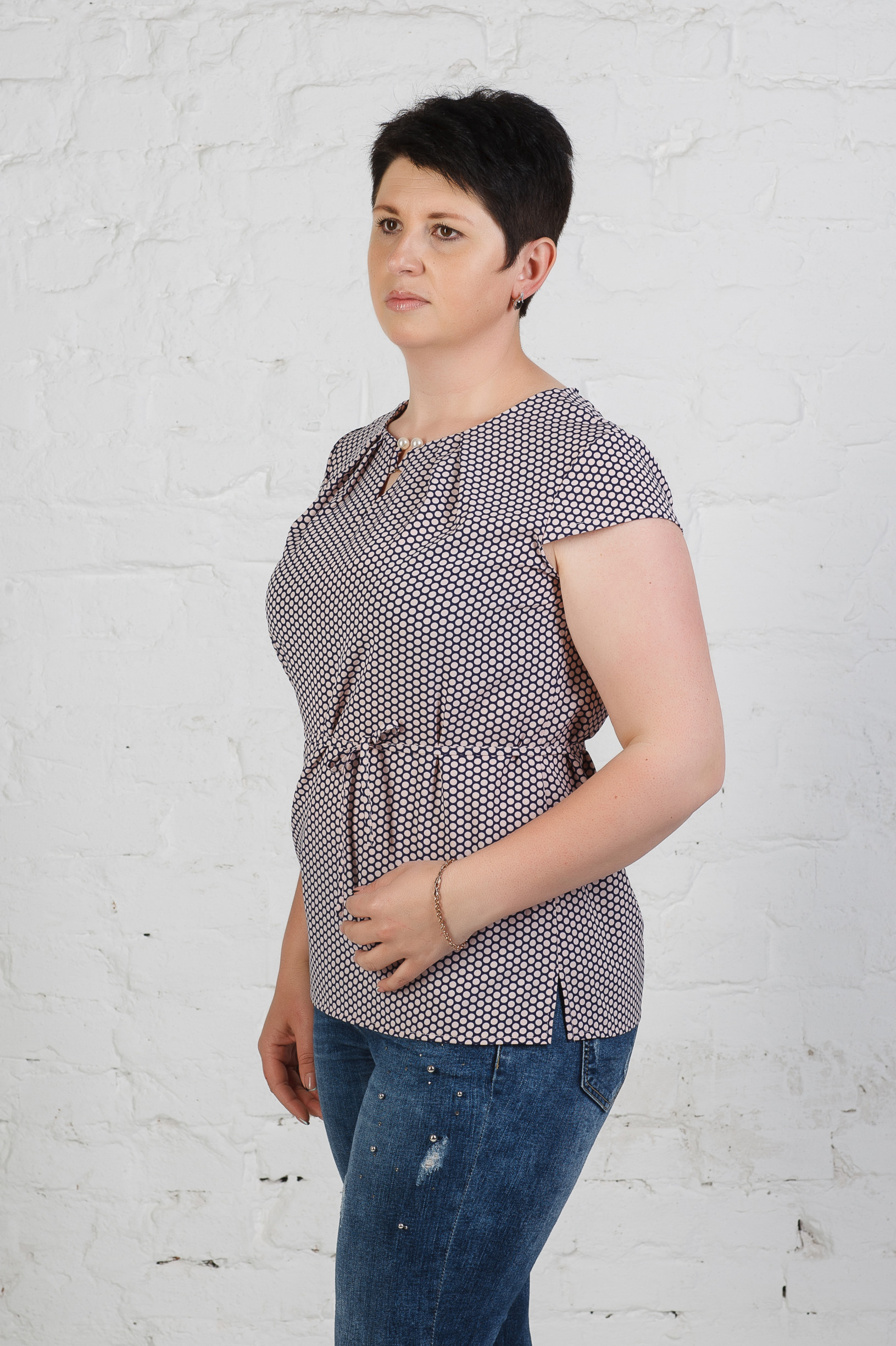 Летняя блуза из софта б-665