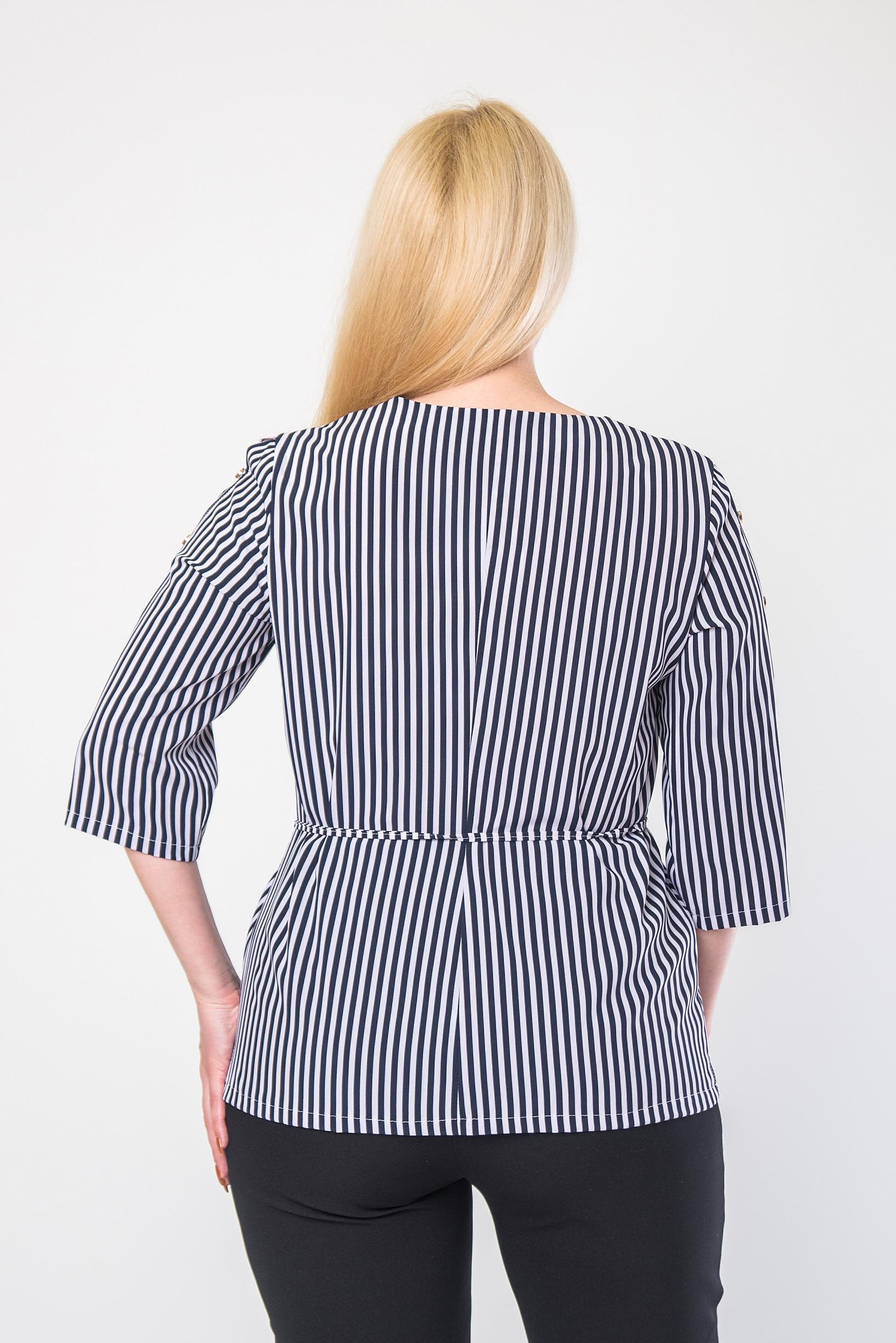 Элегантная женская блуза полоска б-9090
