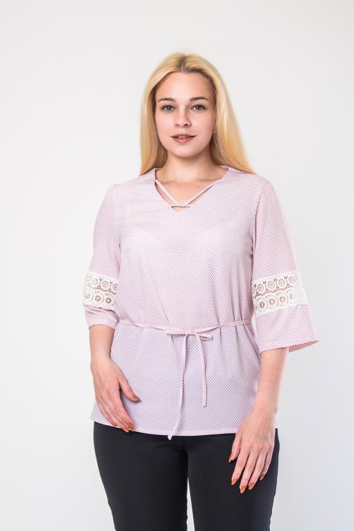 Элегантная женская блуза пудра б-907