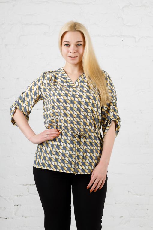 Элегантная женская блуза б-903 жёлтая