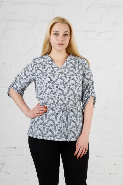 Элегантная женская блуза б-903 кружок