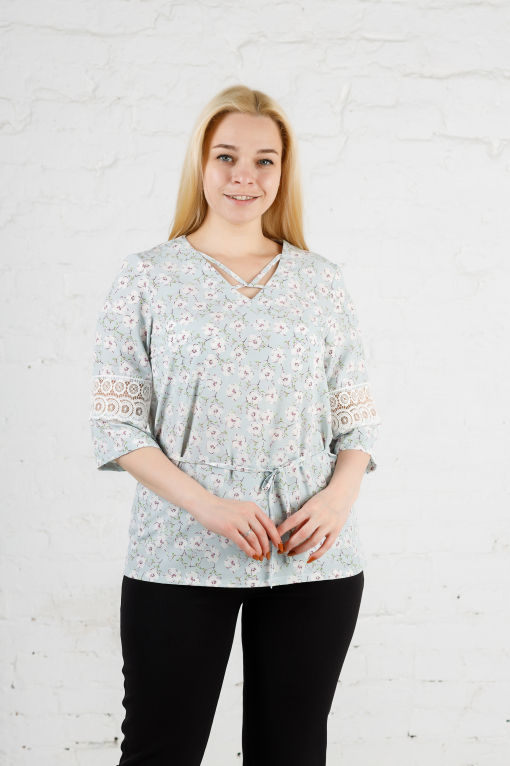 Элегантная женская блуза цветок б-907