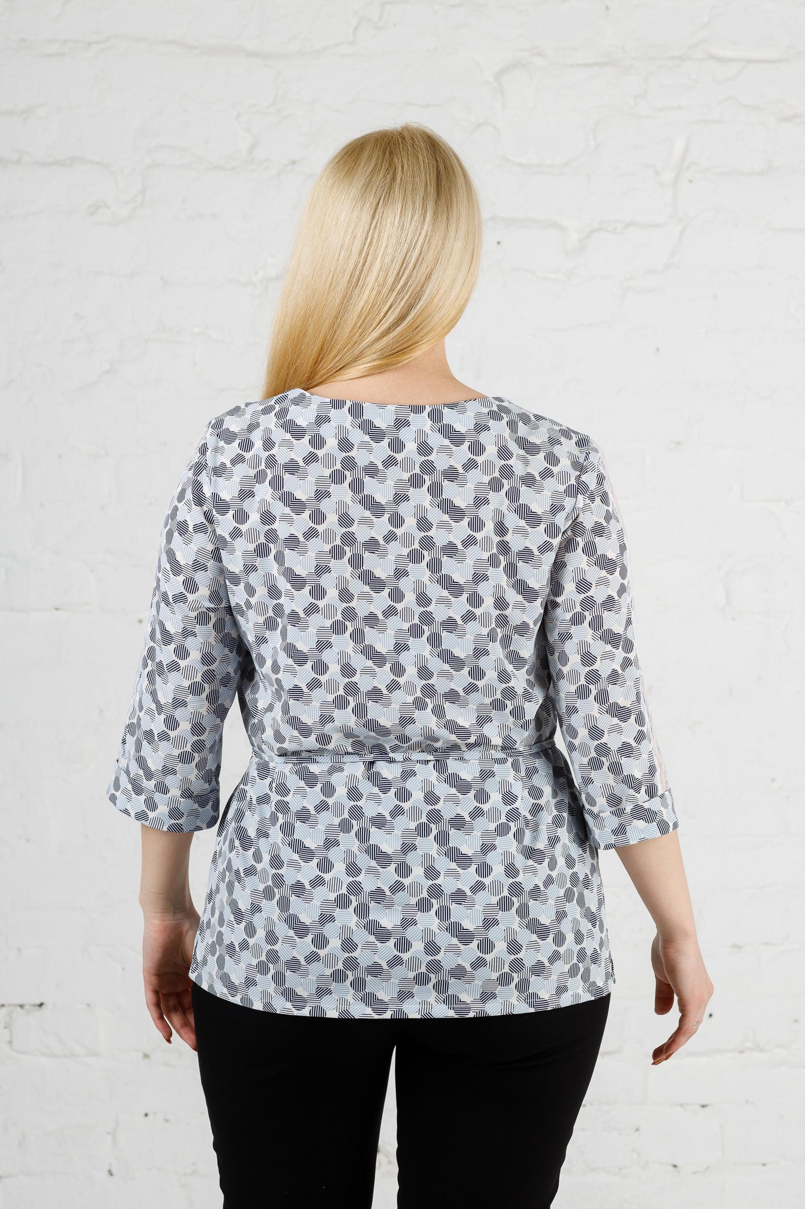 Элегантная женская блуза кружок б-8940