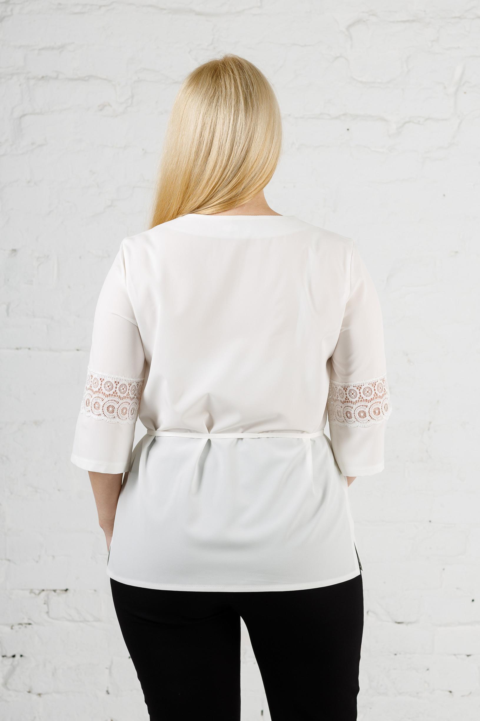Элегантная женская блуза молочная б-907