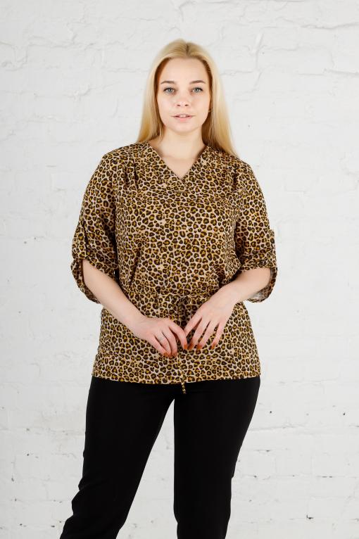 Элегантная женская блуза б-903 гепард