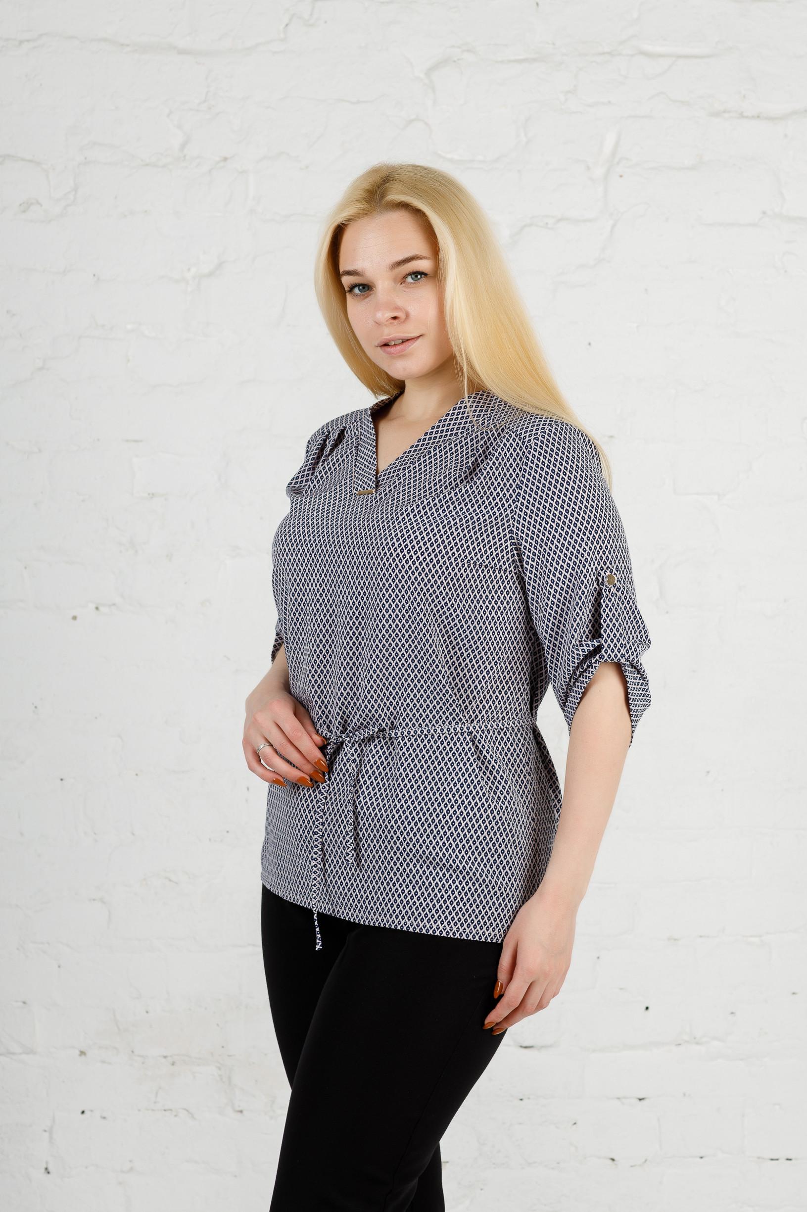 Элегантная женская блуза б-903 капля