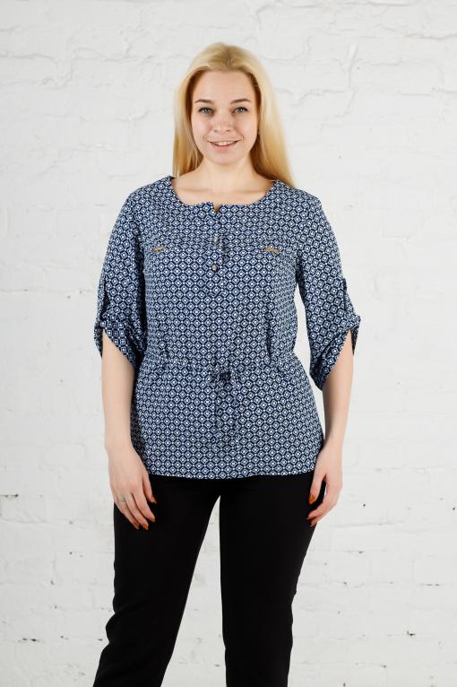 Элегантная женская блуза ромбик б-609