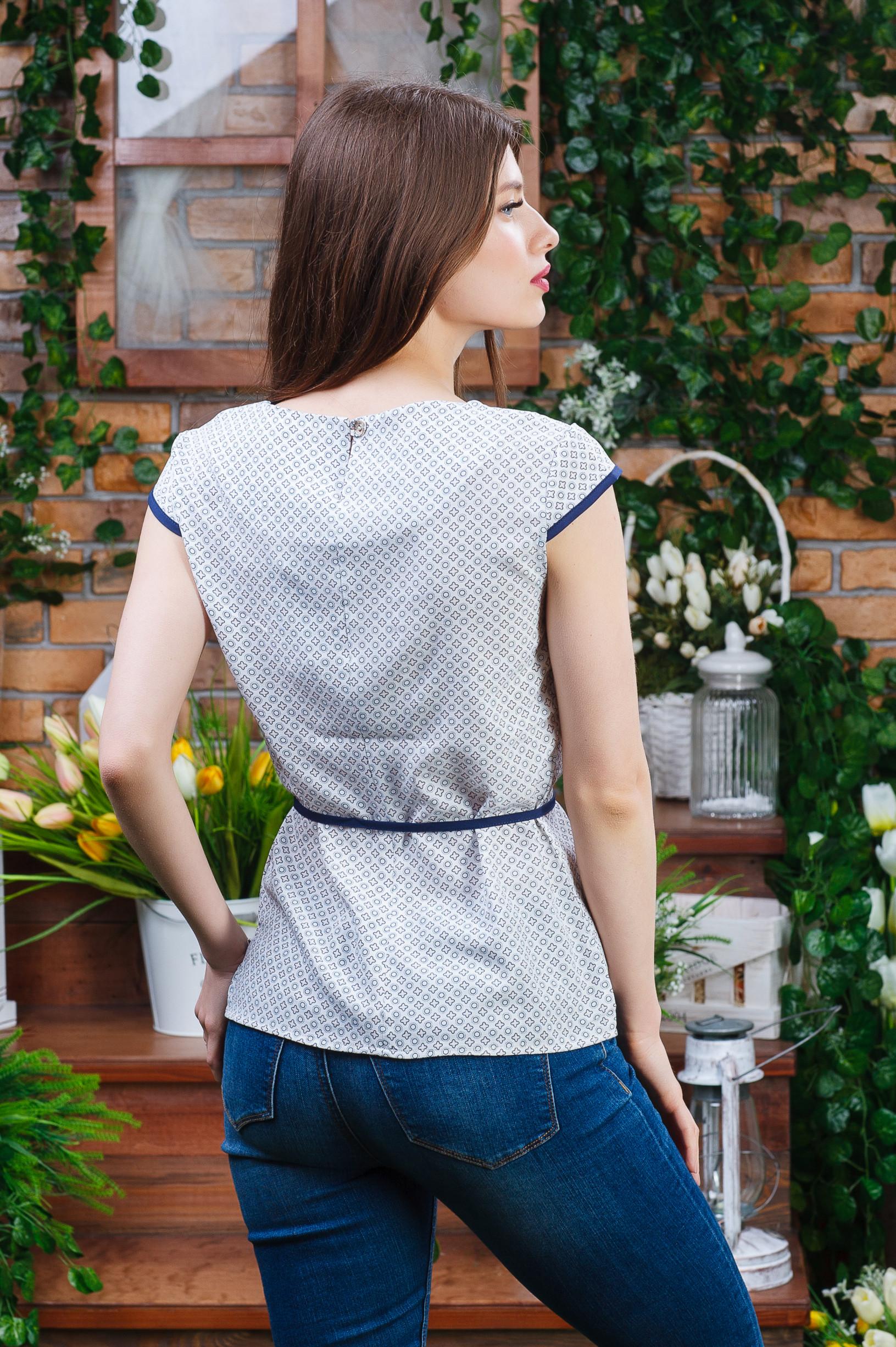 Лёгкая летняя блуза из софта б-4471