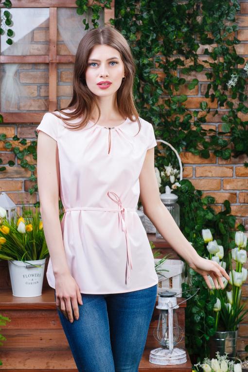 Нежная летняя блуза б-5940 пудра