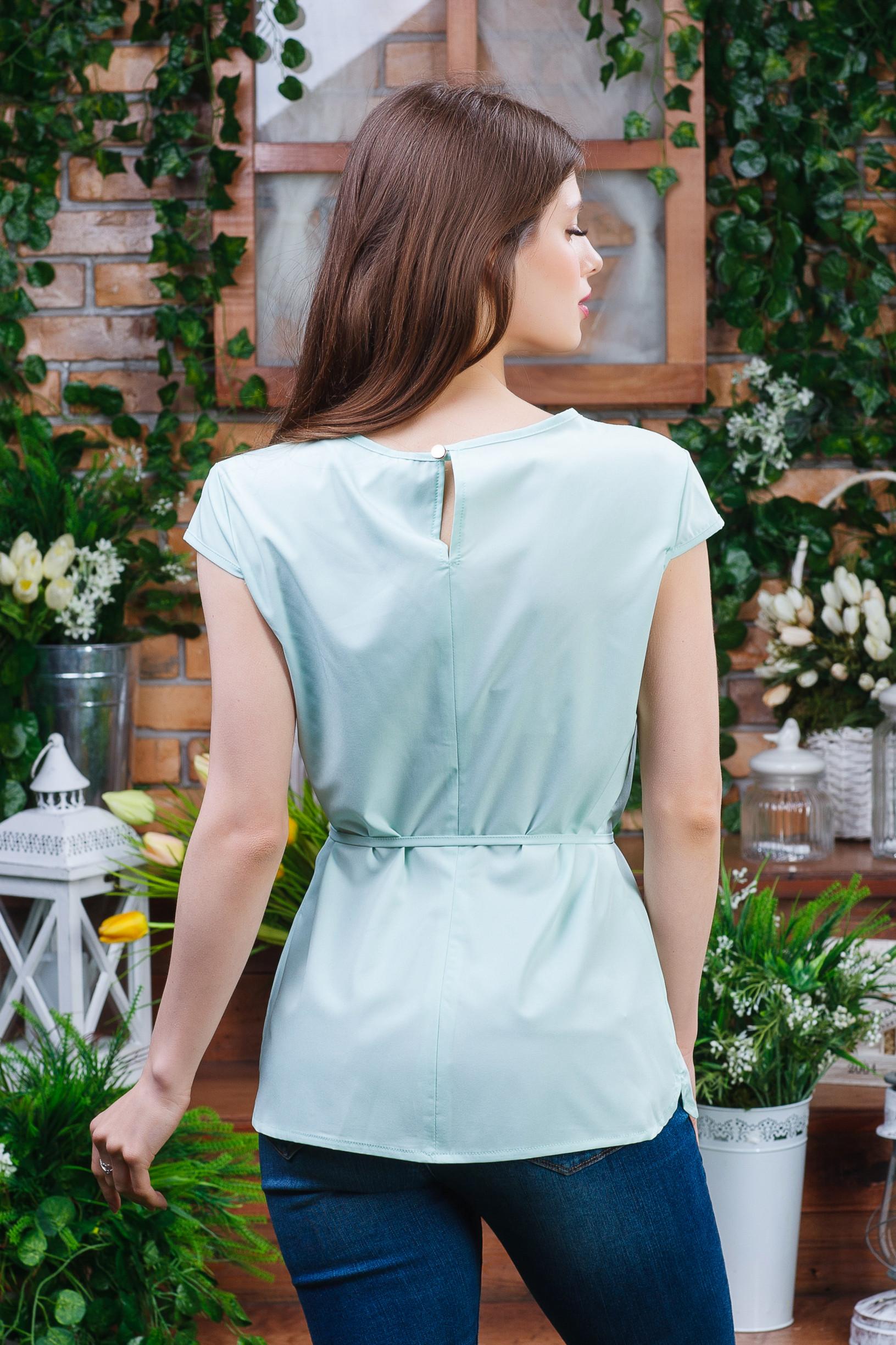 Нежная летняя блуза б-5941 салатовая