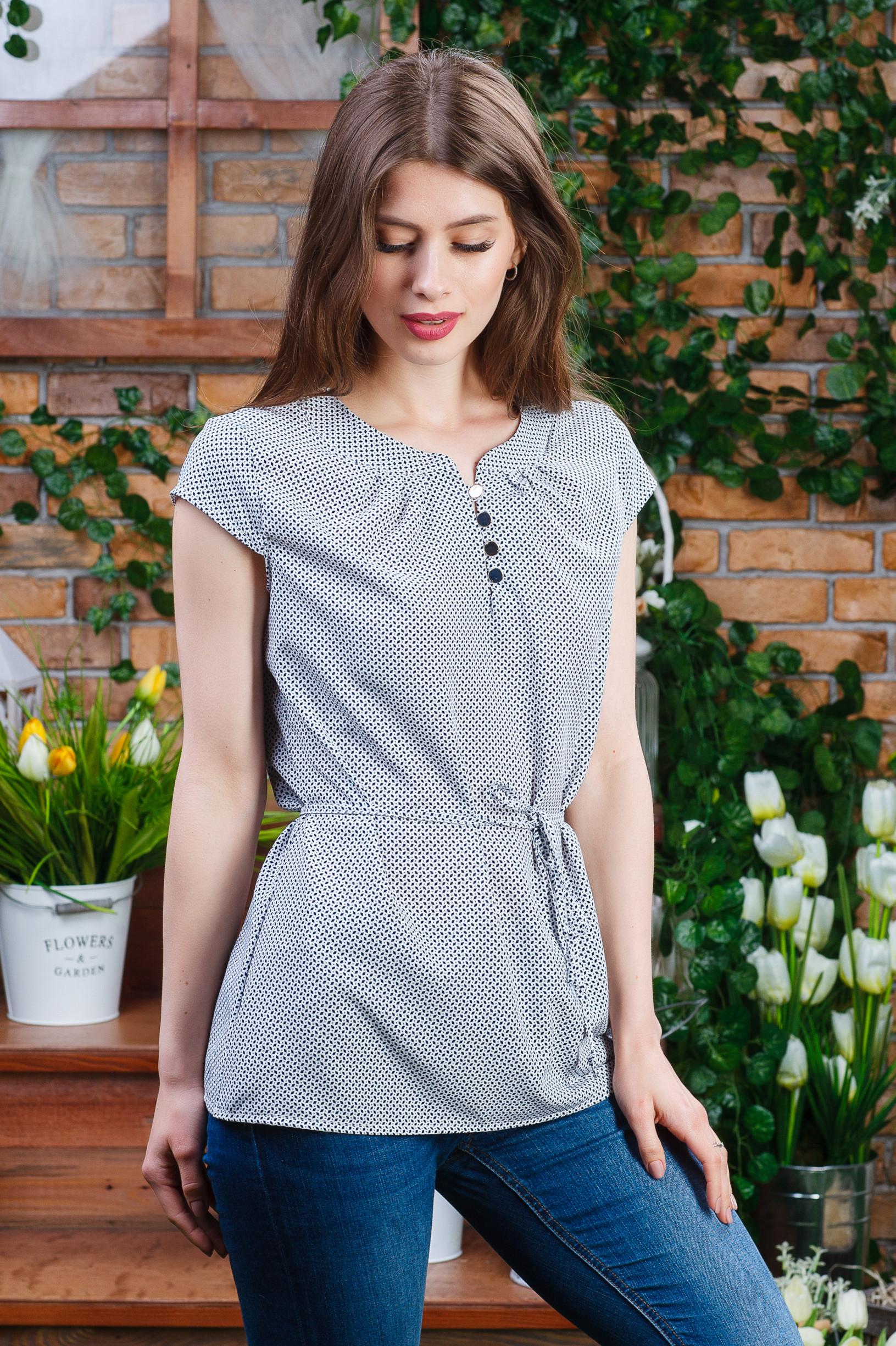 Летняя женская блуза на пуговацах б-5980