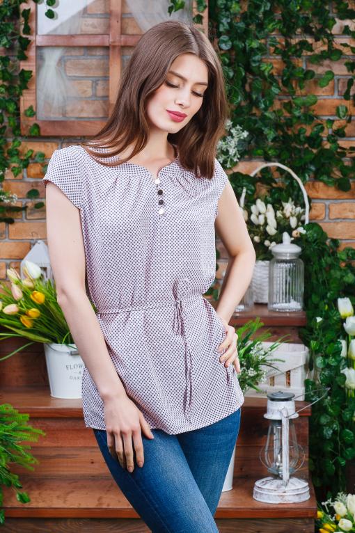 Літня жіноча блуза на гудзиках б-5981