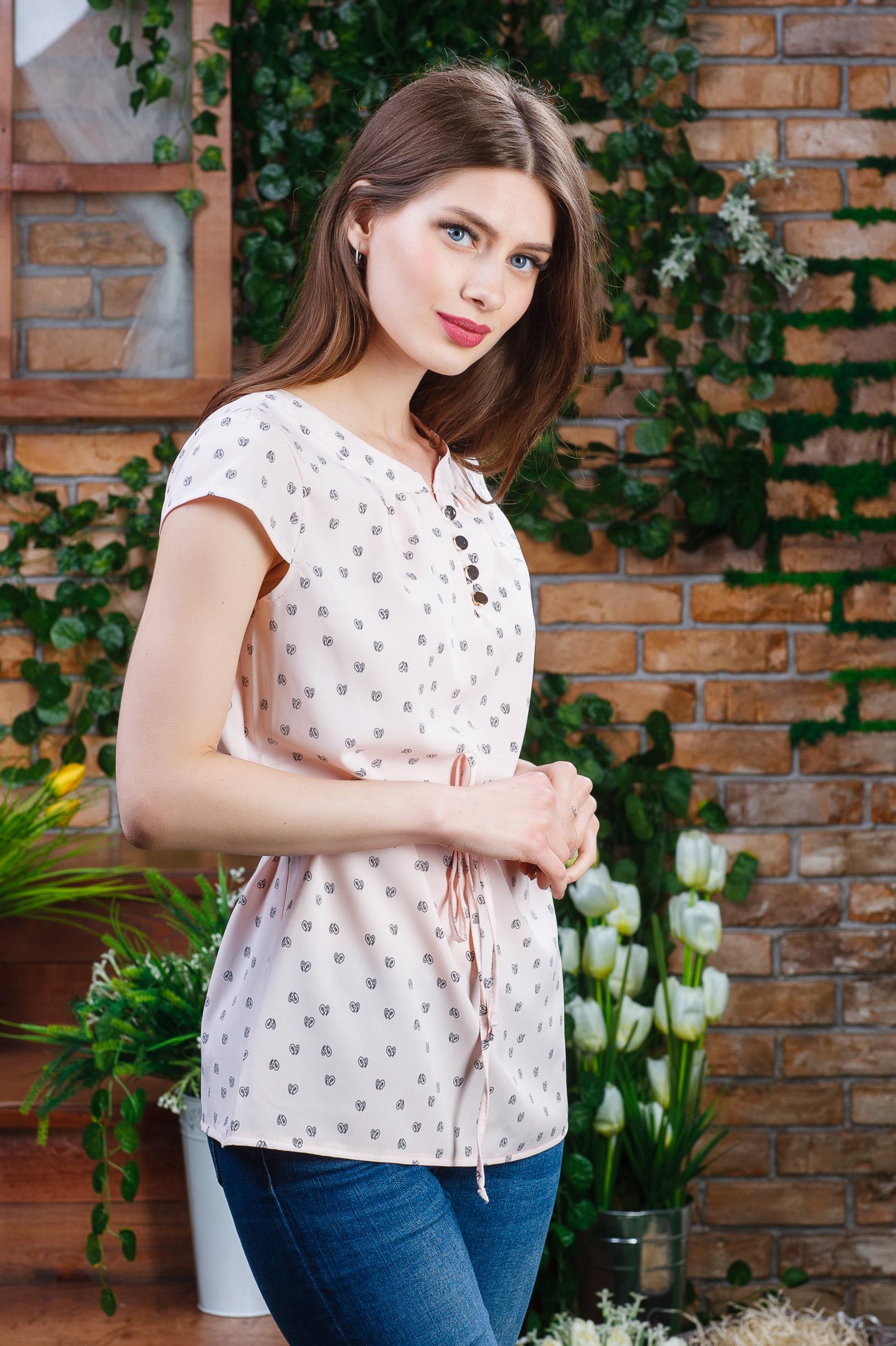 Летняя женская блуза на пуговацах б-5982