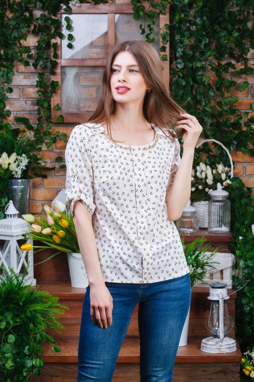 Нежная летняя женская блуза б-6100