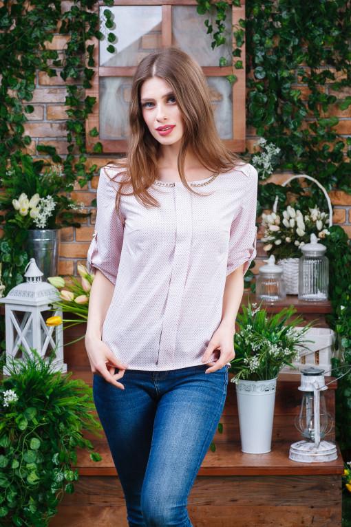 Ніжна літня жіноча блуза б-6101