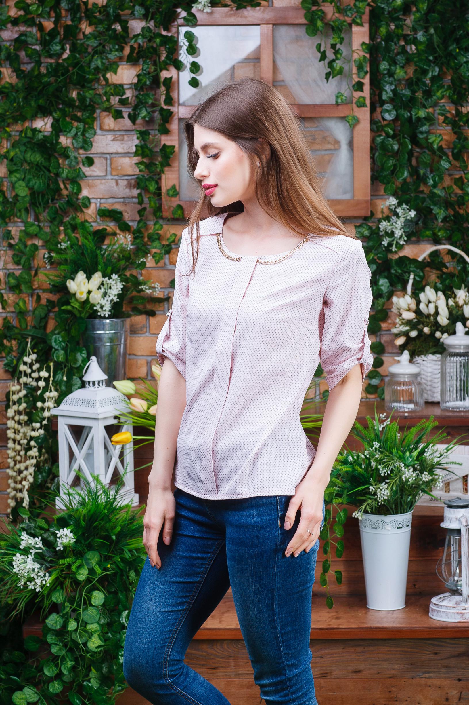 Нежная летняя женская блуза б-6101