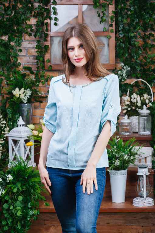 Нежная летняя женская блуза б-6102