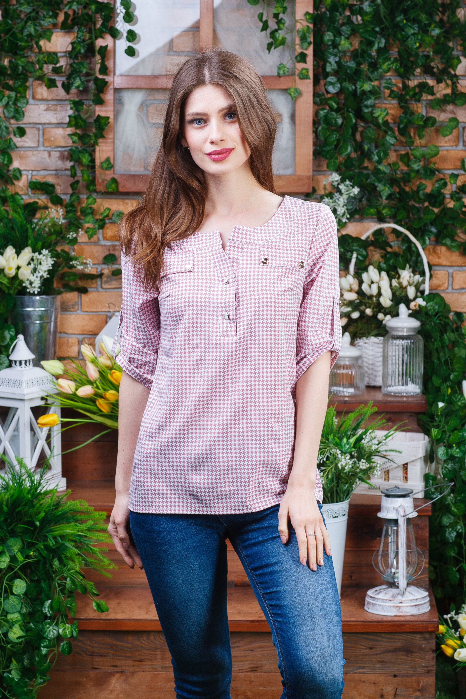 Летняя легкая блуза б-6140
