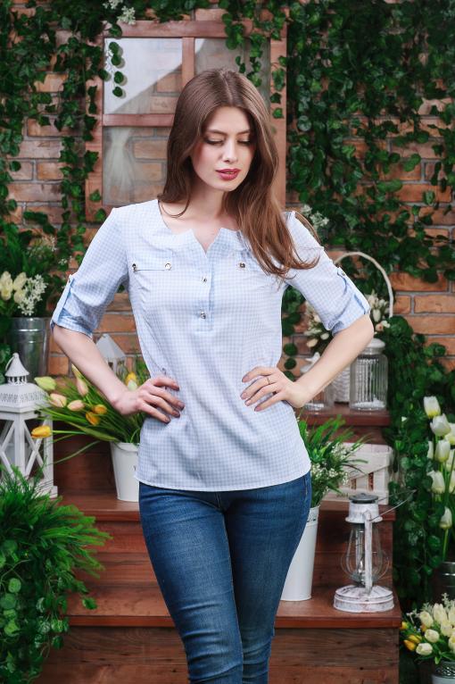 Летняя легкая блуза б-6141
