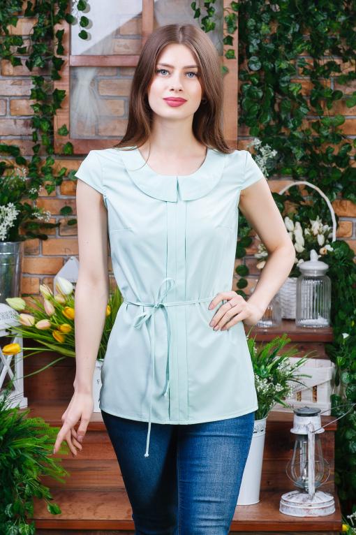 Летняя блуза для девушки салатовая б-6270