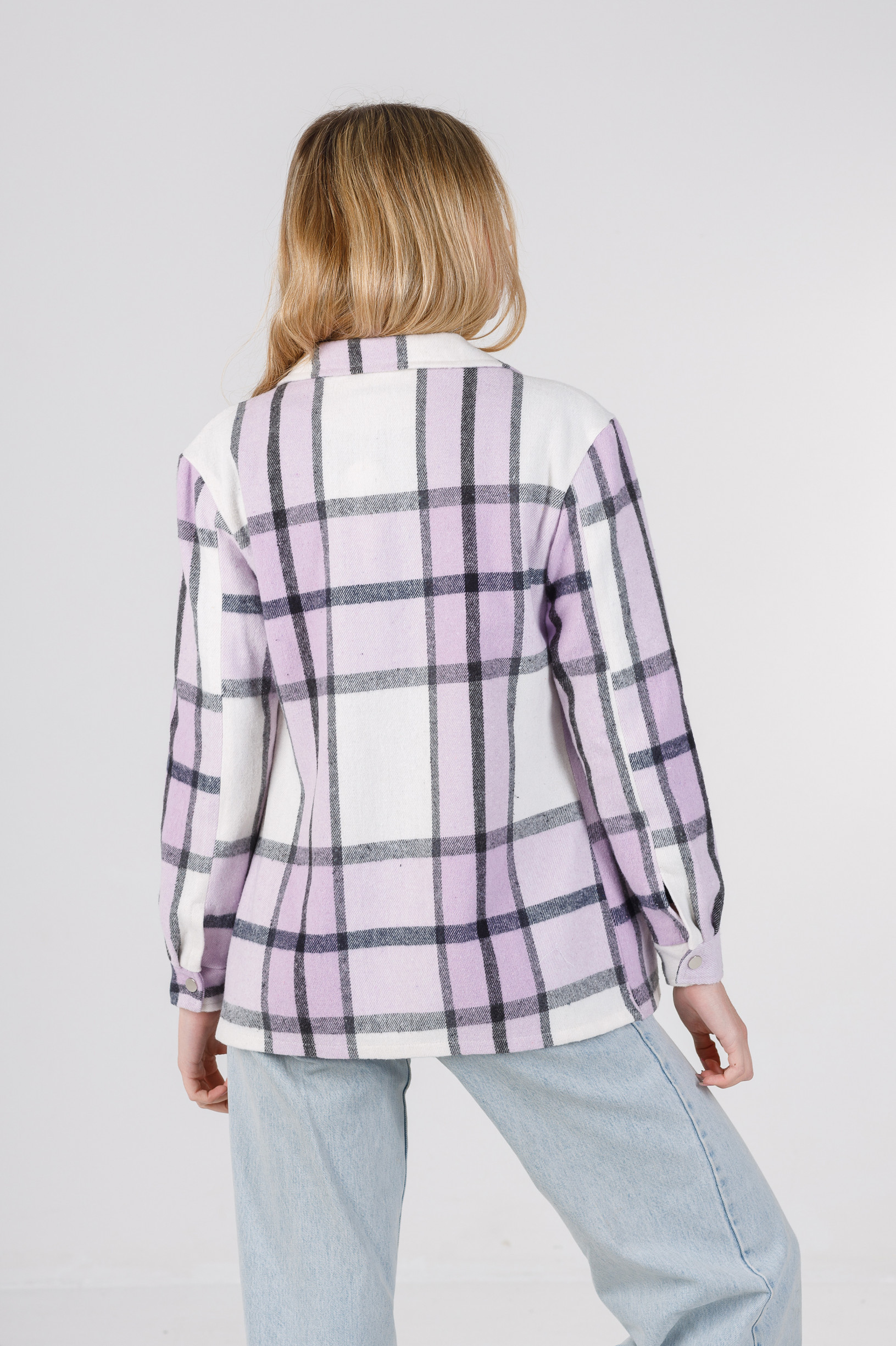 Весенняя рубашка-кардиган фиолет