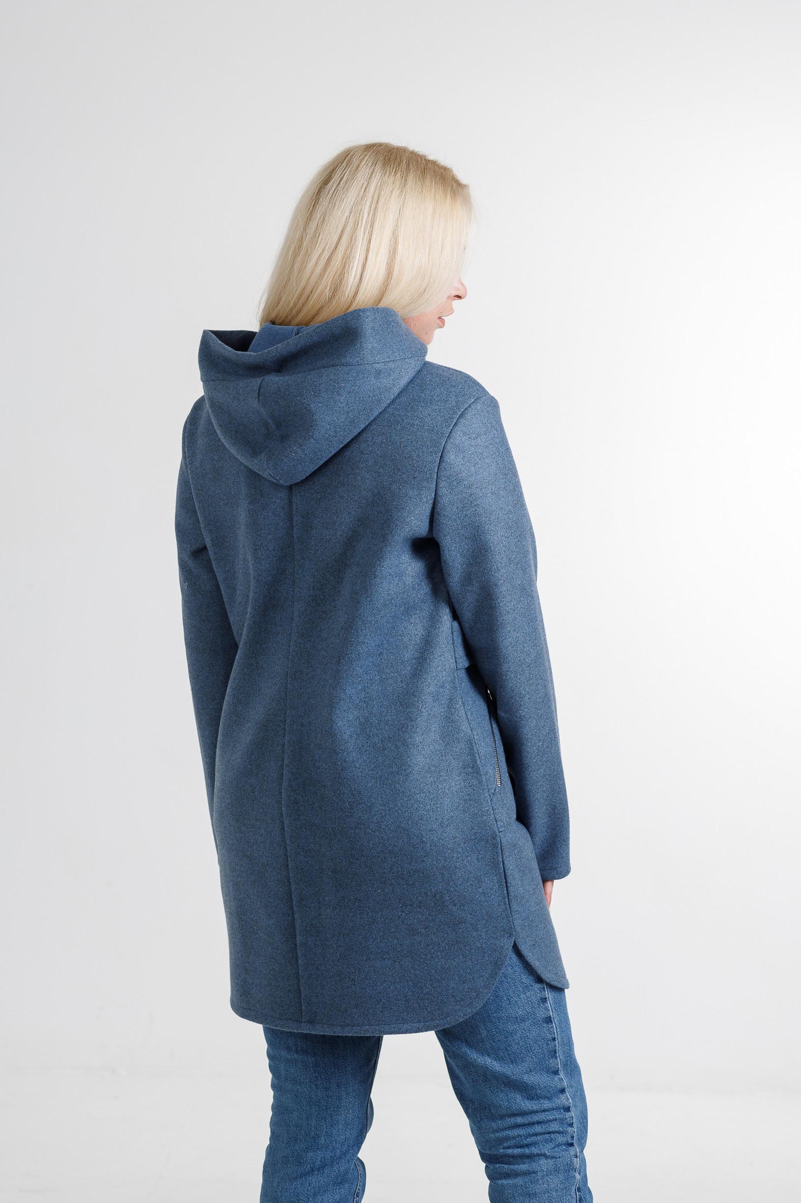 Женский кашемировый кардиган Меган джинсового цвета