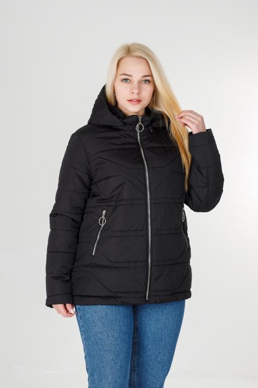 Женская чёрная весенняя куртка Дина