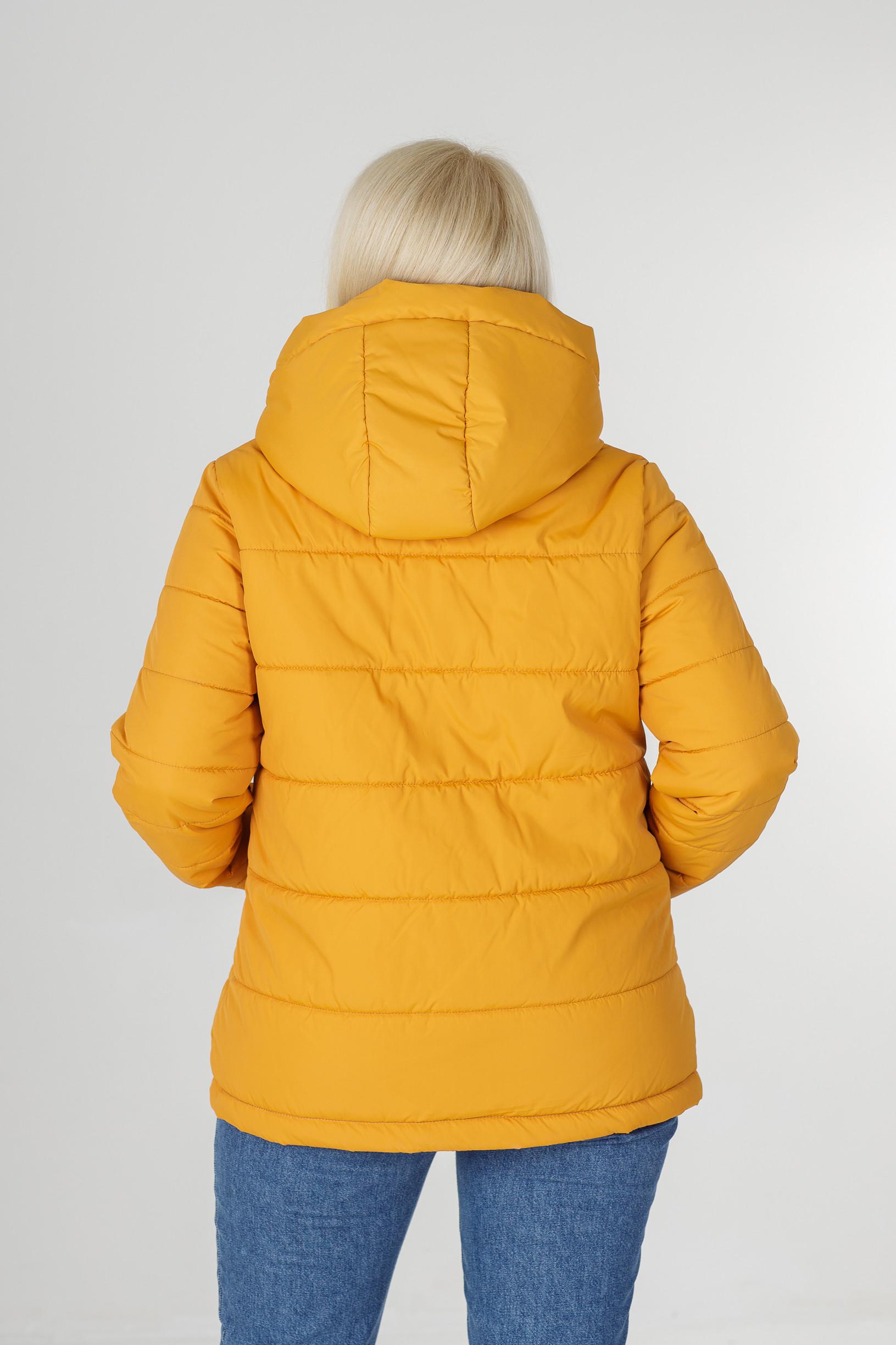 Женская жёлтая весенняя куртка Дина
