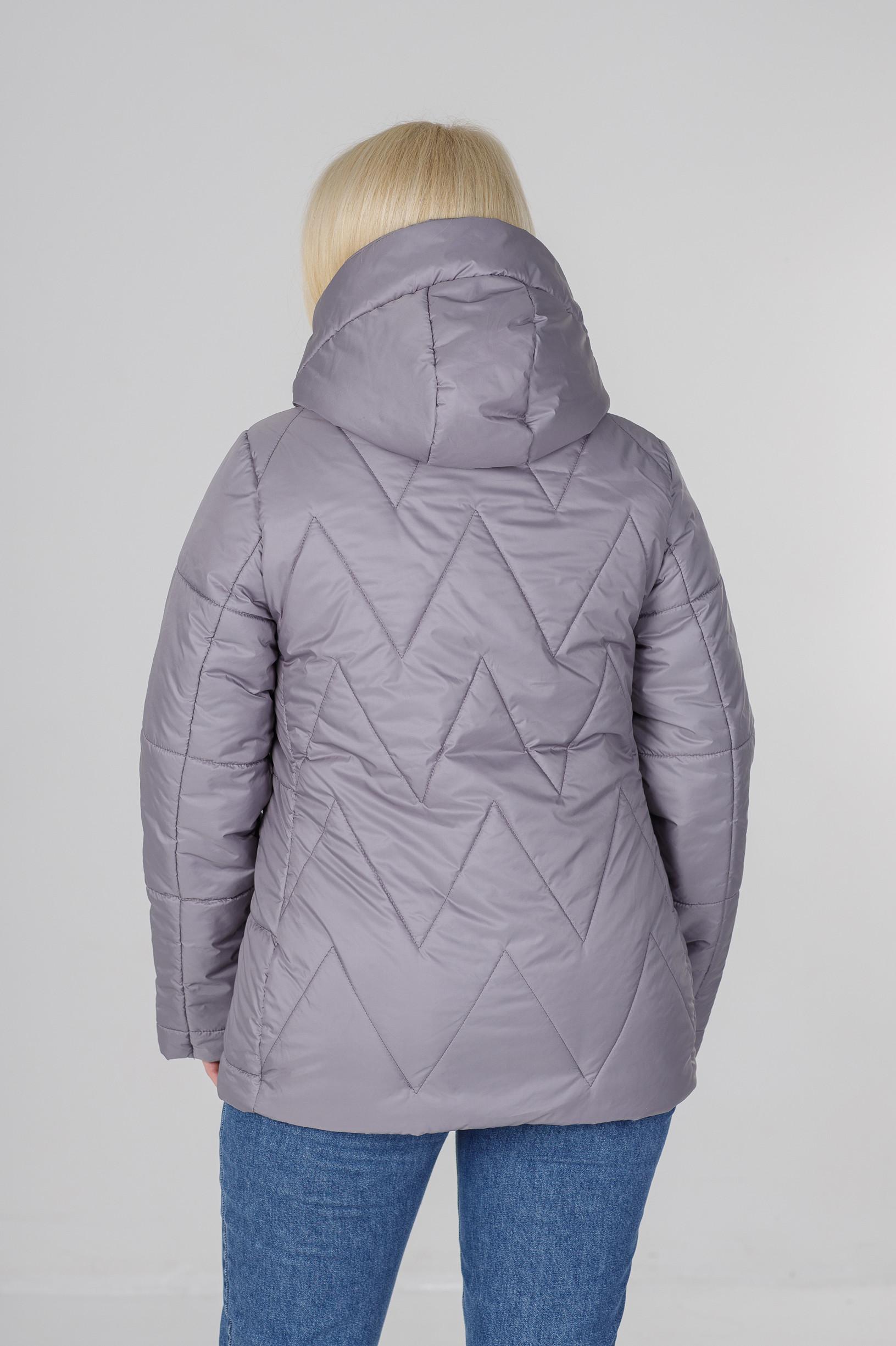 Весенняя серая куртка большого размера Ноа