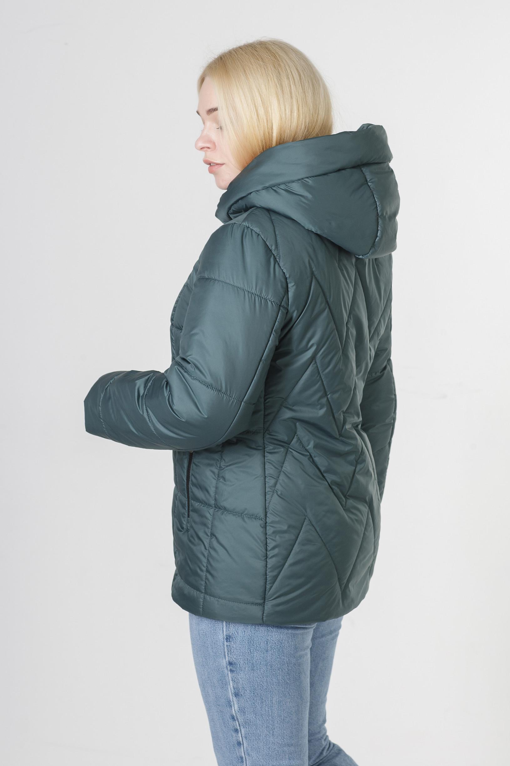 Весенняя бирюзовая куртка большого размера Ноа