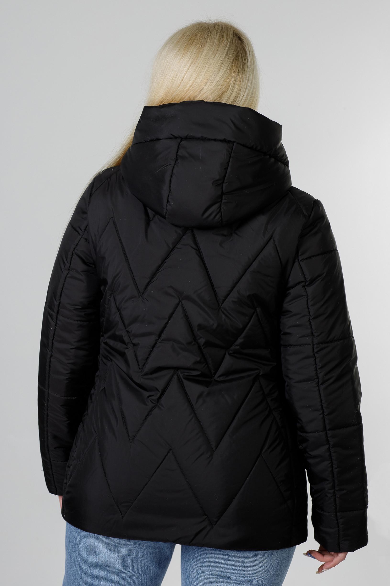 Весенняя чёрная куртка большого размера Ноа