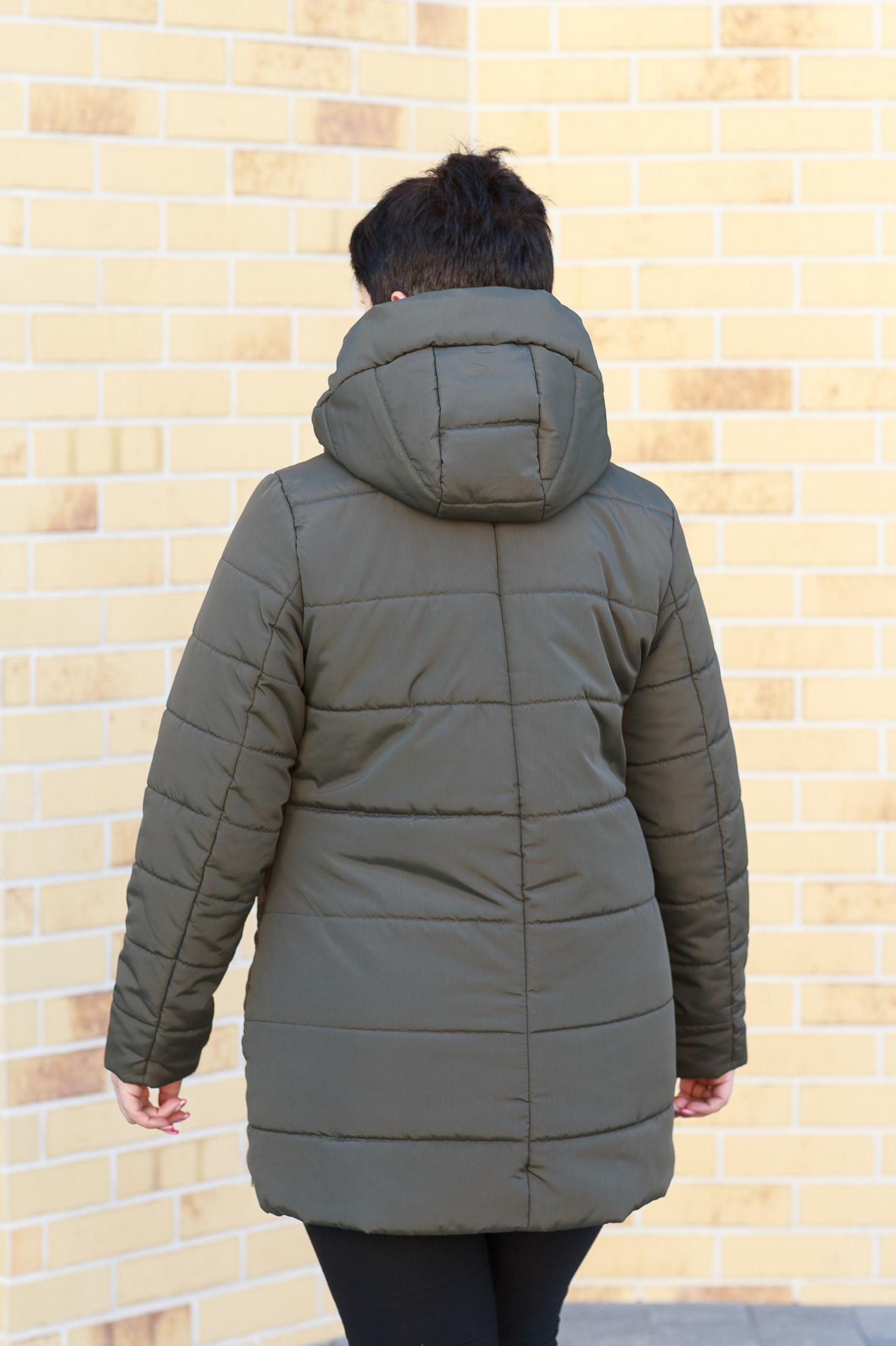 Демисезонная женская зелёная куртка Ронда