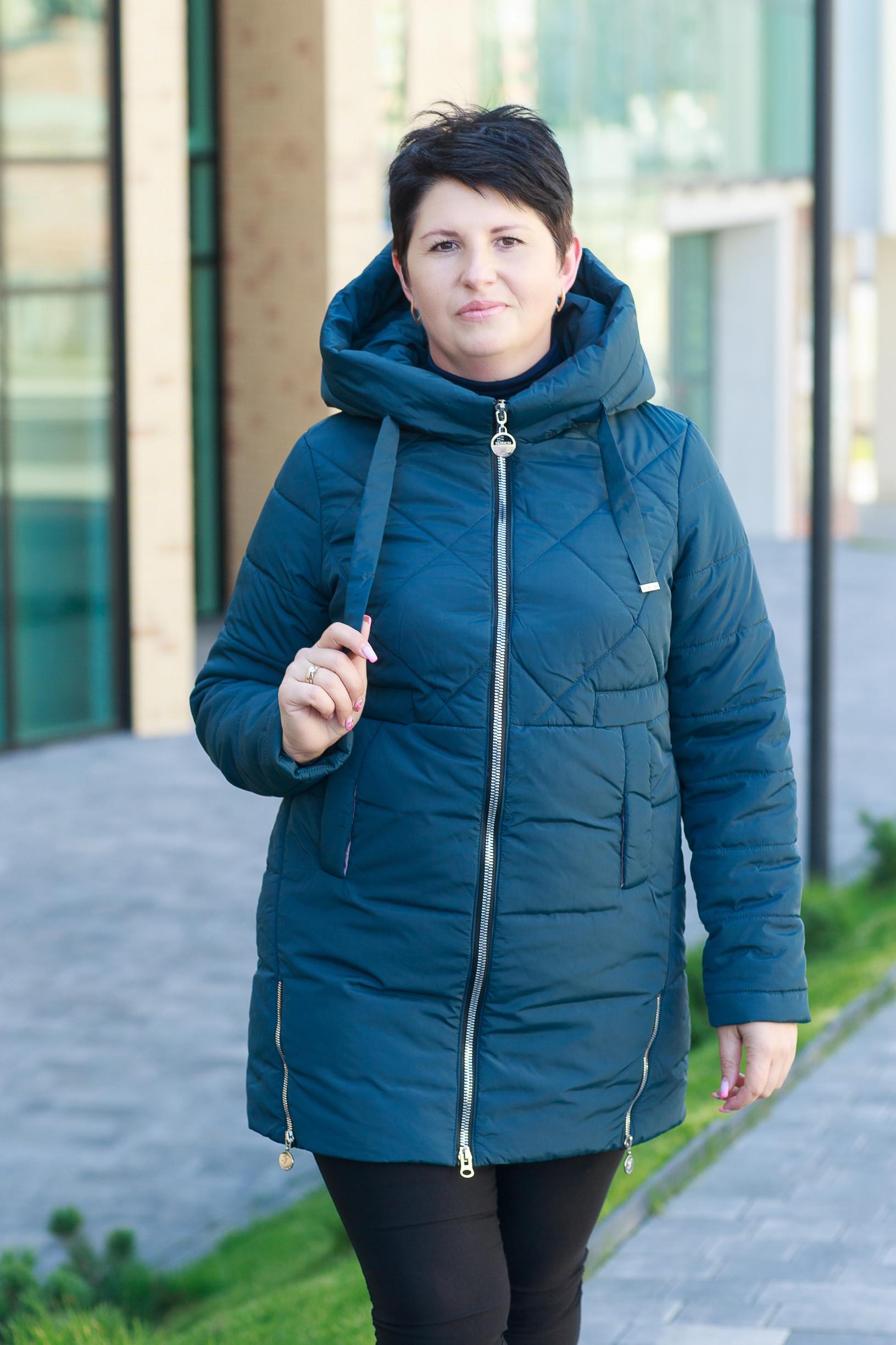Демисезонная женская зелёная куртка Майли