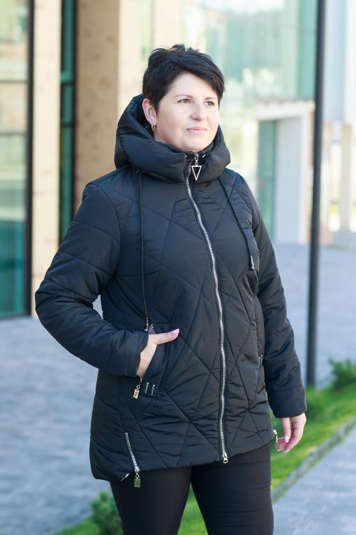 Демисезонная женская куртка Ронда чёрного цвета