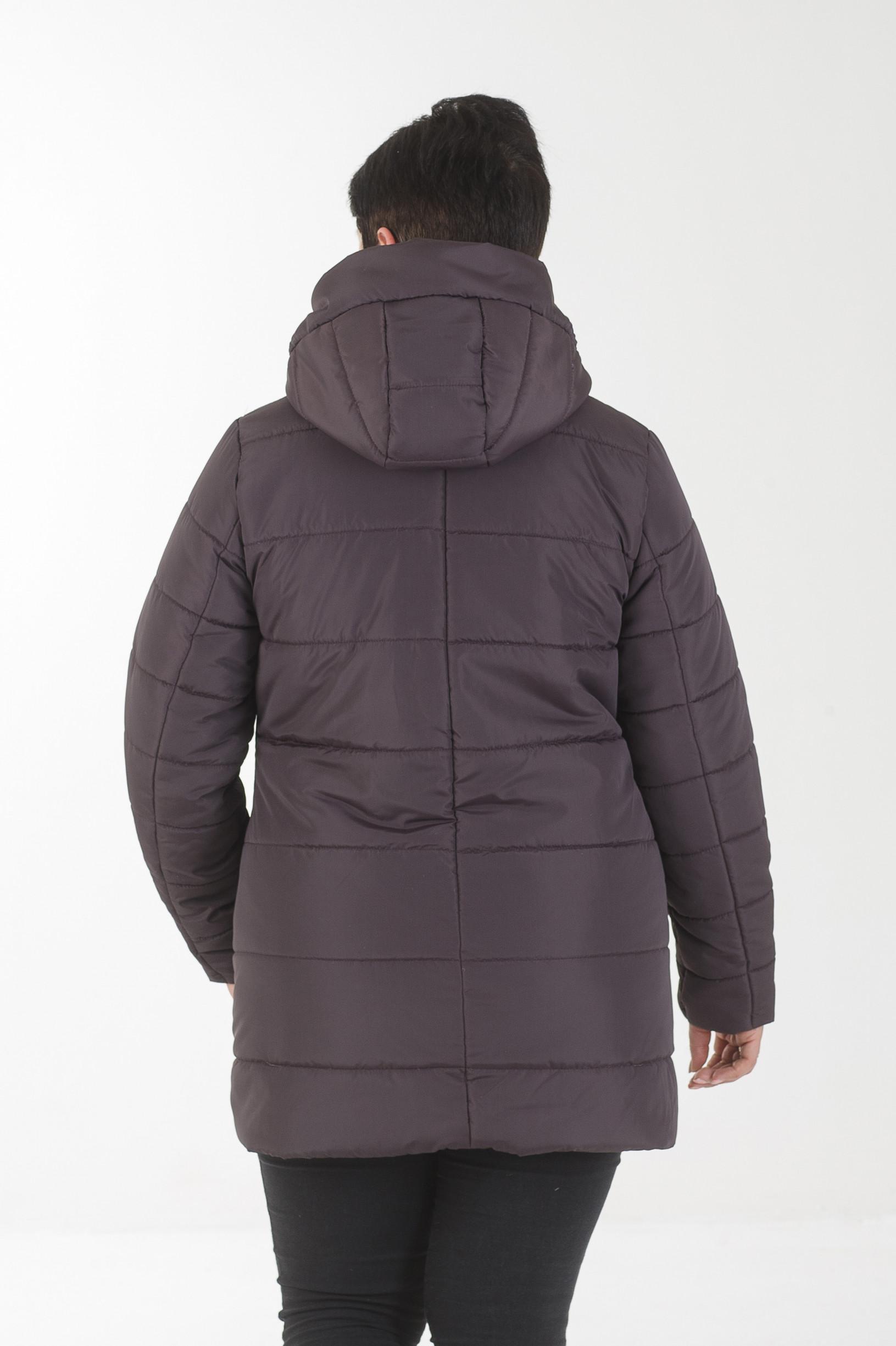Демисезонная женская куртка Ронда бордового цвета