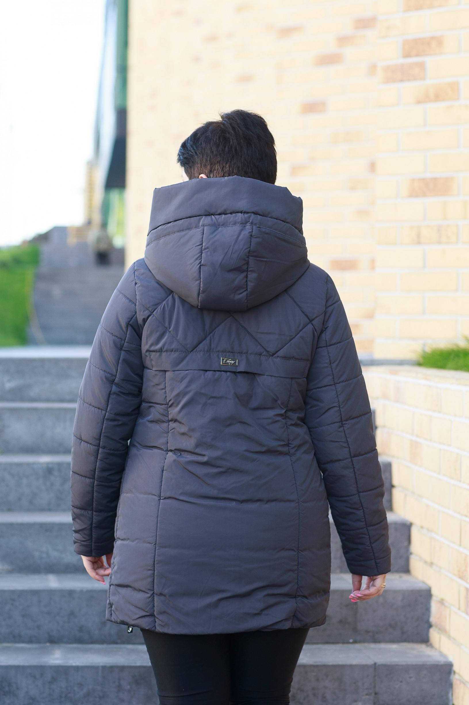 Демисезонная женская черничная куртка Майли