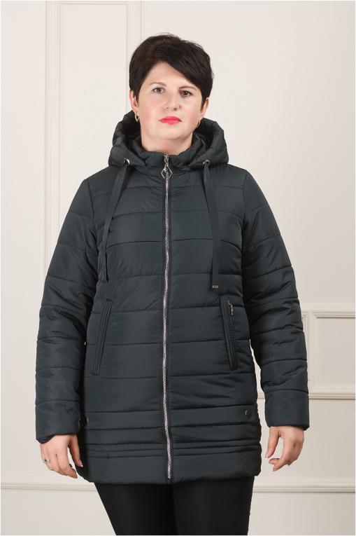 Жеснкая демисезонная куртка Мирта-2 тёмно-зелёная