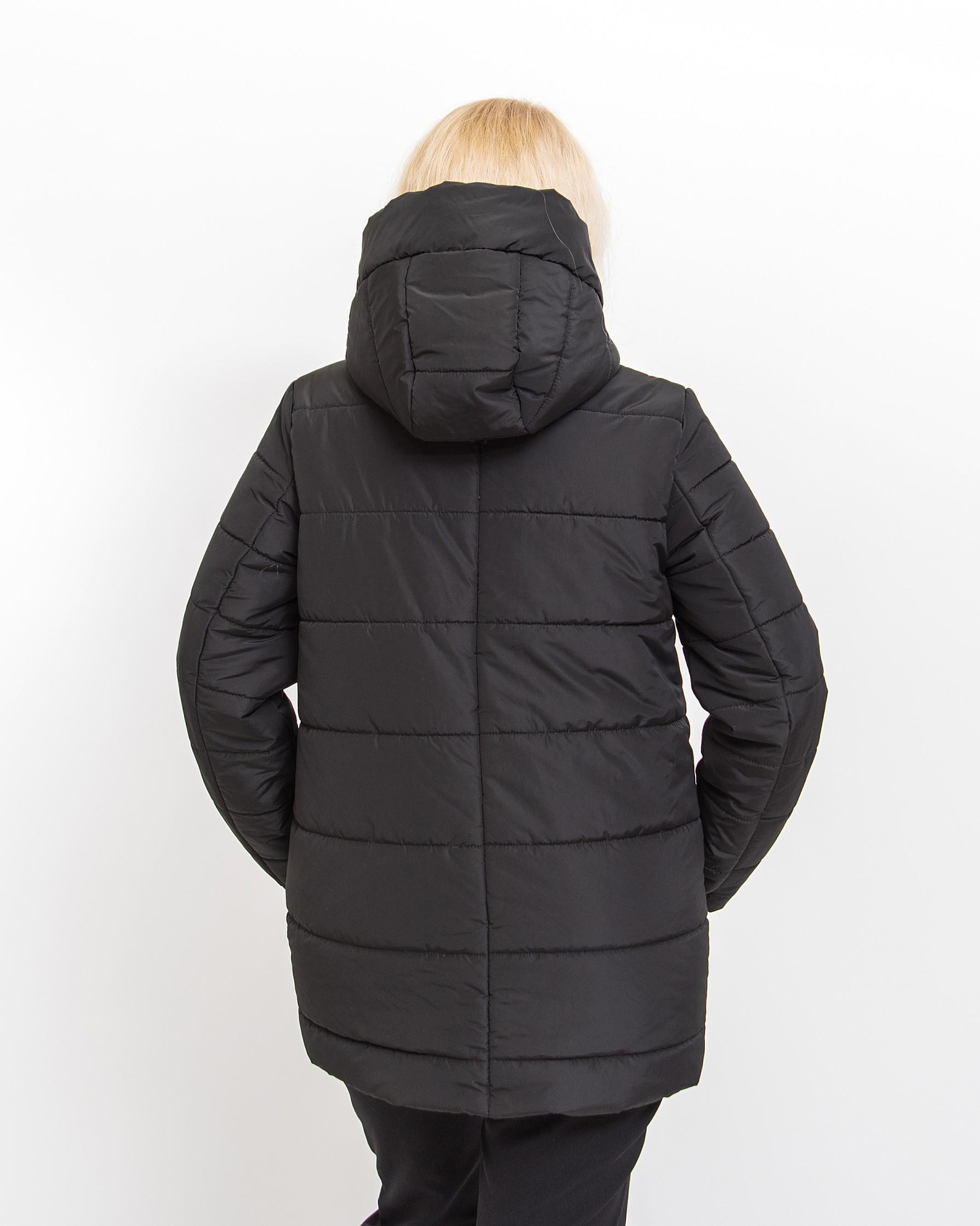 Демисезонная женская куртка Альма чёрного цвета
