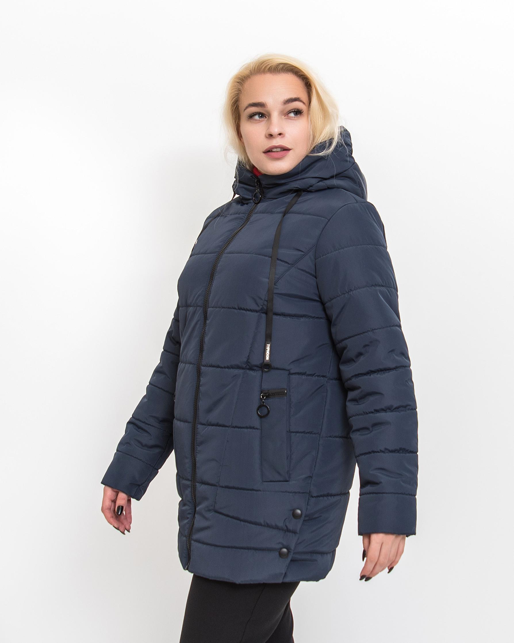 Демисезонная женская куртка Альма синего цвета