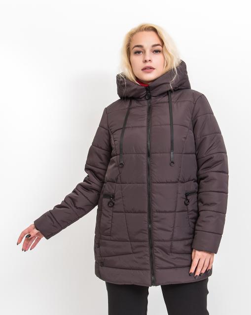 Демисезонная женская куртка Альма коричневого цвета